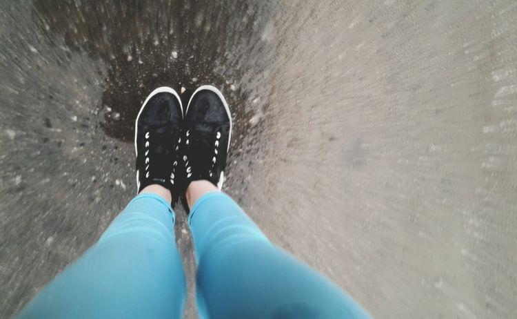 дождик ноги мятные штаны джинсы