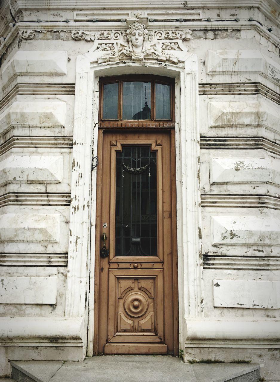 Wooden Door Of Building