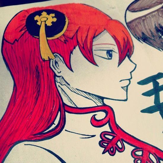 珍しく色付き。 Anime Comic Gintama Kagura Illust 漫画 銀魂 神楽 絵