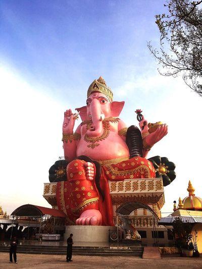 Tample Sky Outdoors Day Buda Ganesha