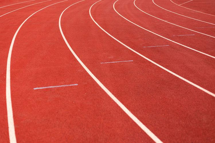 Full frame shot of empty running tracks