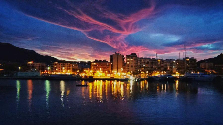 City Sky Water Sea Sunset Boat Cristian Rios