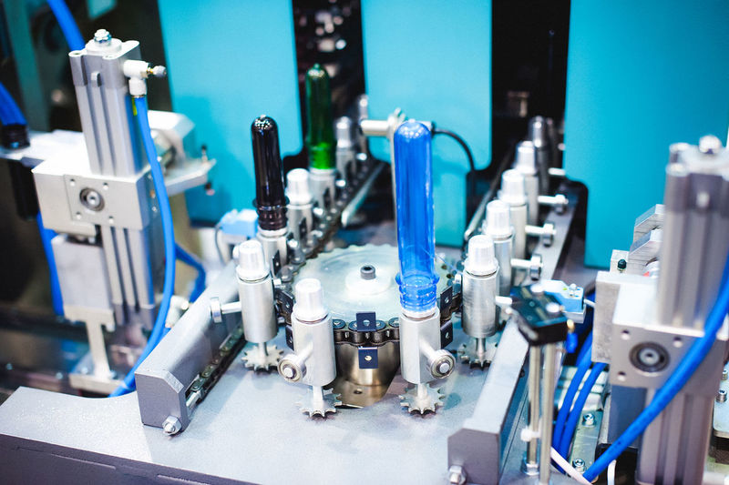 Close-Up Of Machine In Factory