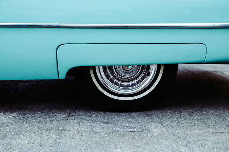 Asphalt Blue Cadillac Car Cars Classic Car Classic Cars Close-up Colored Film Land Vehicle Lines No People Retro Road Tire Transportation Transportation Travel Vintage Vintage Car Vintage Cars Wheel Wheels Lieblingsteil