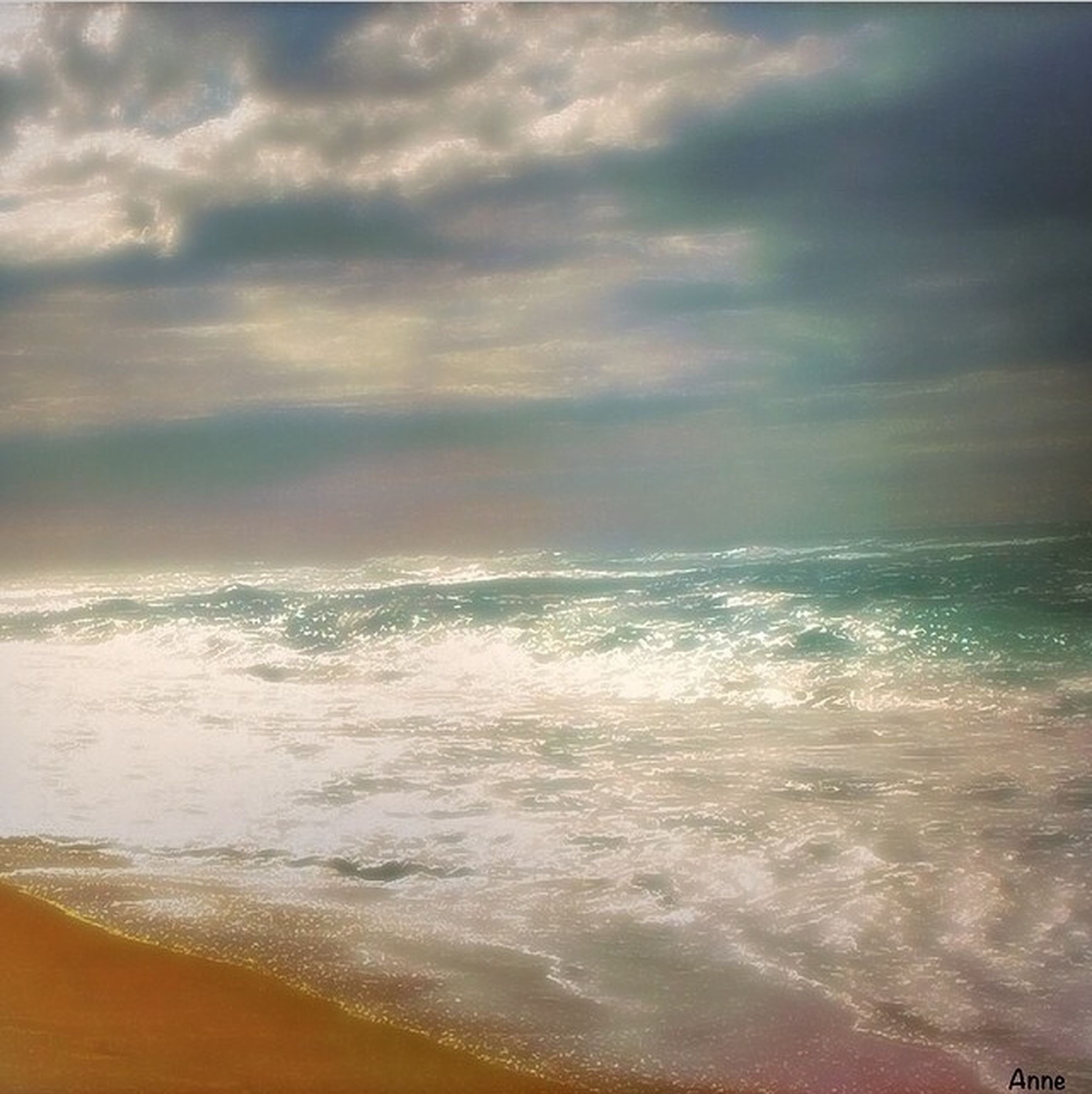 sea, water, horizon over water, wave, sky, scenics, beach, surf, beauty in nature, cloud - sky, tranquil scene, shore, tranquility, nature, cloudy, motion, idyllic, sand, power in nature, seascape