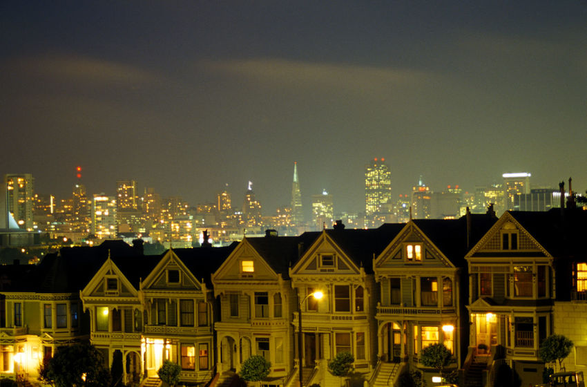Painted Ladies at night, San Francisco, California Painted Ladies San Francisco Painted Ladies House Houses San Francisco California Dreaming Travel Destinations San Francisco, California Cali California Travel Photography Tourist Attraction  Tourist Destination Night Photography Color City Scenic View Scenic Landscapes Scenic Scenic Photograghy Cityscapes Cityscape Scenicphotography Night Downtown