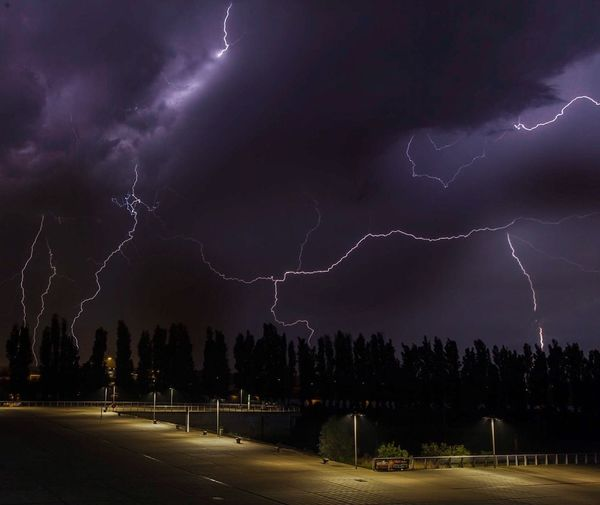 Gewitter in Bremen am 23.06.2016 Outdoors Thunder Flash Bold Night Gewitter Weather Wolken Clouds Showcase June
