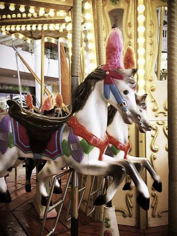 Arts Culture And Entertainment Horse Carousel Horses Carousel Amusement Park Ride Amusement Park No People Indoors  Day Animal Themes Mexico Merry Go Round