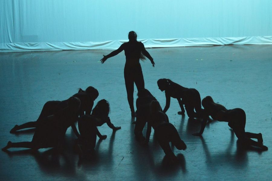 Crawling Creepy Control Dancers Shadows Silhouette Blue Darkness Onthestage Blue Wave