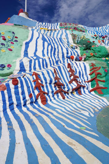 2016 America California Colorful Colors Cute Desert GOOD IS LOVE Hand Made Mountain Painting Salvation Mountain Travel アメリカ サルベーションマウンテン Striped Pattern Striped Sky