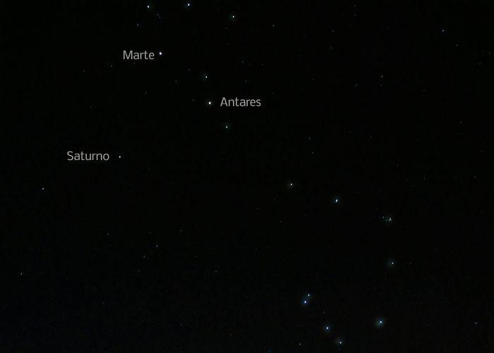 Sony Hx300 Estrelas Constelação Escorpiao Marte Saturno ANTARES Planetas