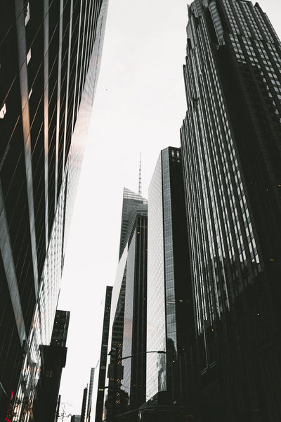 Architecture New York New York City VSCO Architecture Building Exterior Built Structure City Cityscape Day Downtown District Low Angle View Modern No People Outdoors Sky Skyscraper Streetphotography Travel Destinations Vscocam