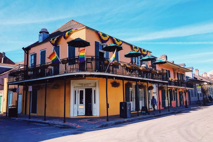 Ey EyeEmNewHere Old Buildings French Quarter Architecture Built Structure Building Exterior Sky Day Outdoors