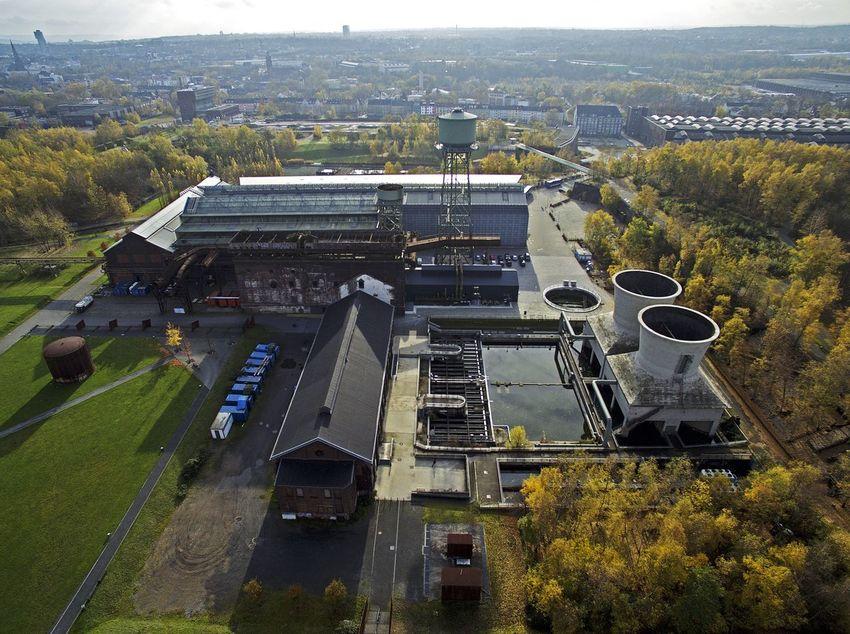 Jahrhunderthalle Westpark in Bochum / Industrial Photography Dronephotography Dji Phantom Drone