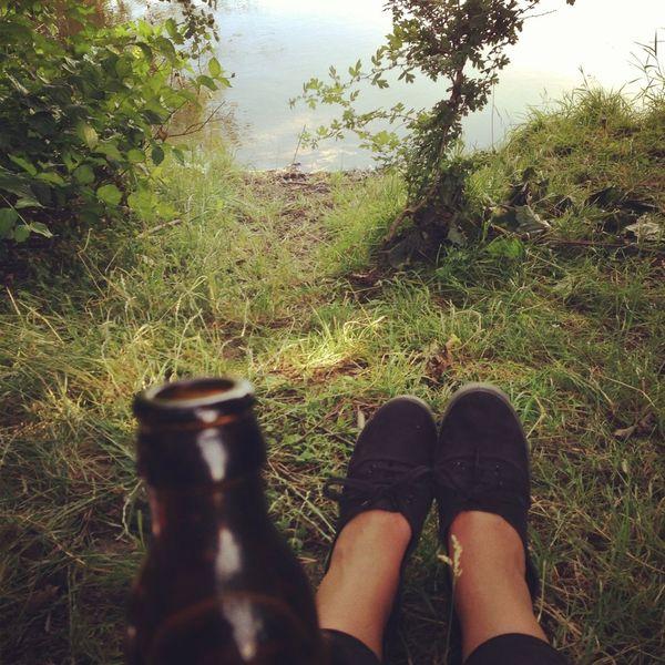 Relaxing Enjoying The Sun Beer