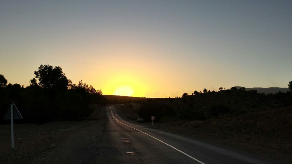 On The Road Road To Work Sunset Beauty Morocco