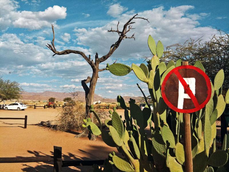 Africa Arid Arid Climate Arid Landscape Blue Sky Clouds Dessert Heat Landscpape Namibia Outdoors Outofnowhere Parking Parking Sign Sky Skyporn Tree Wildlife & Nature