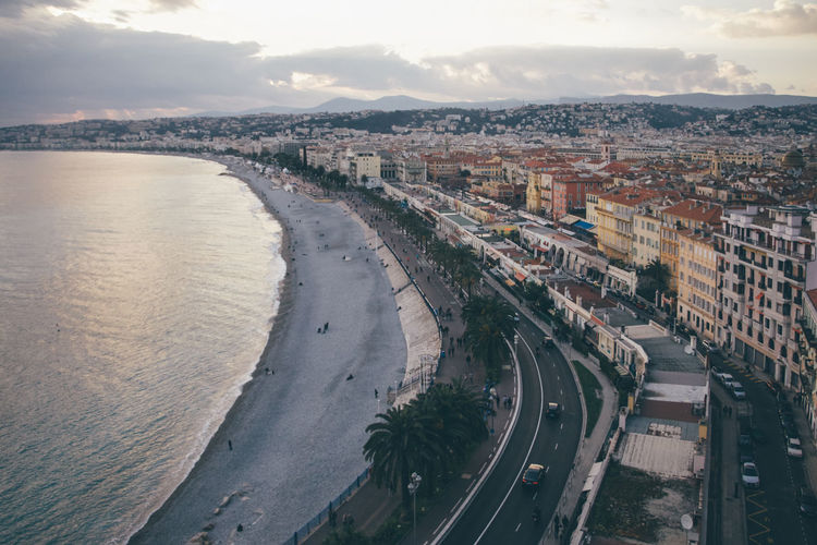 Aerial View Architecture Building Exterior Built Structure City City Life Cityscape Coastline Côte D'Azur Day Downtown District EyeEmNewHere Harbor High Angle View Nice, France No People Outdoors Road Sea Sky Skyscraper Travel Travel Destinations Urban Skyline Water EyeEmNewHere
