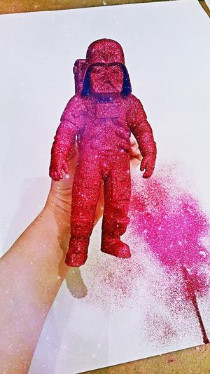Darth Vader-naught Sparkly Pants! Darthvader Starwars Glitter & Sparkle Pink 3d Printing MakerBot Art Craft