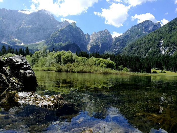 At the beautiful Laghi di Fusine... Laghidifusine Mountains Stone Nature Italy HuaweiP9 Lake