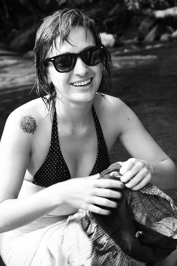 Life Is A Beach Portrait Portrait Of A Friend Blackandwhite Black And White Inkedgirls Inked Tattoo Nofilter Friends
