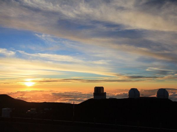 Sunset Mauna Kea Observatory Sea Of ​​clouds Landscape_photography Sunset Silhouettes From My Point Of View Landscape_Collection EyeEm Nature Lover Bigisland Ladyphotographerofthemonth Eye4photography  My Memories Hawaiian Sunset Light And Shadow Tadaa Community I Wish Your Happiness