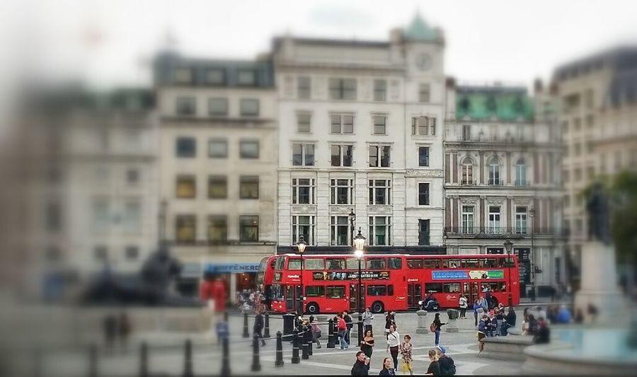 View from Trafalgar Square Trafalgar Square London Bus Summer2014