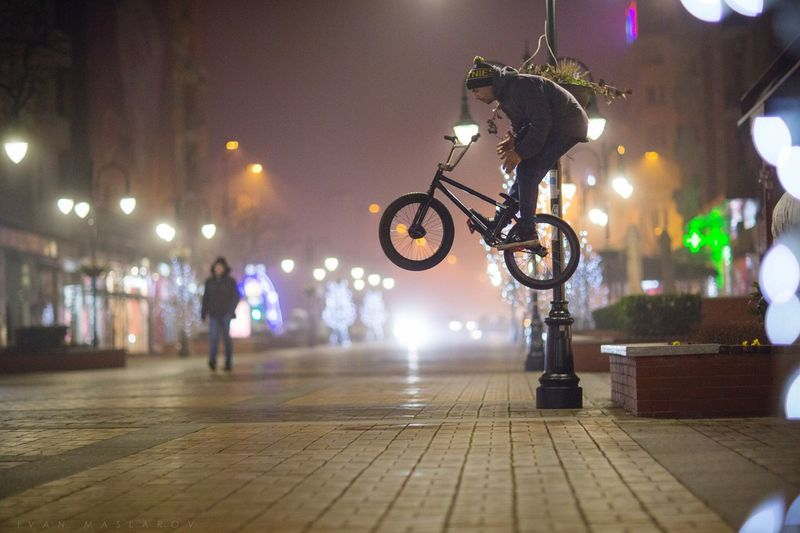 Bmx  Night Sport Youth Action Barspin Streetphotography Urban Bike Bicycle