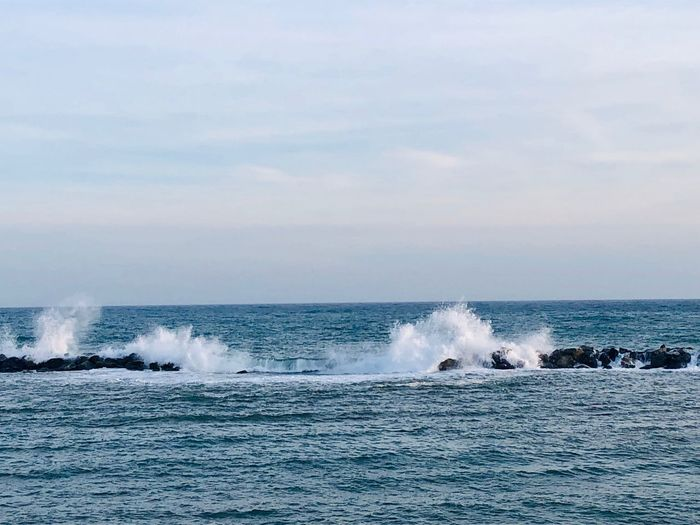 EyeEm Selects Water Sea Motion Splashing Sky Beauty In Nature