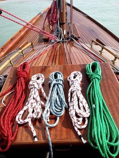 Sailing on Lake Balaton with a Folkboat Folkeboot Woodenboats Ropes Rope