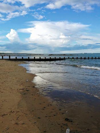 Aberdeen Beach Sky Clouds Clouds And Sky Sand Water Sea Beach Low Tide Sand Summer Blue Reflection Wave Sky Seascape Horizon Over Water Coast Tide Coastal Feature Coastline Calm