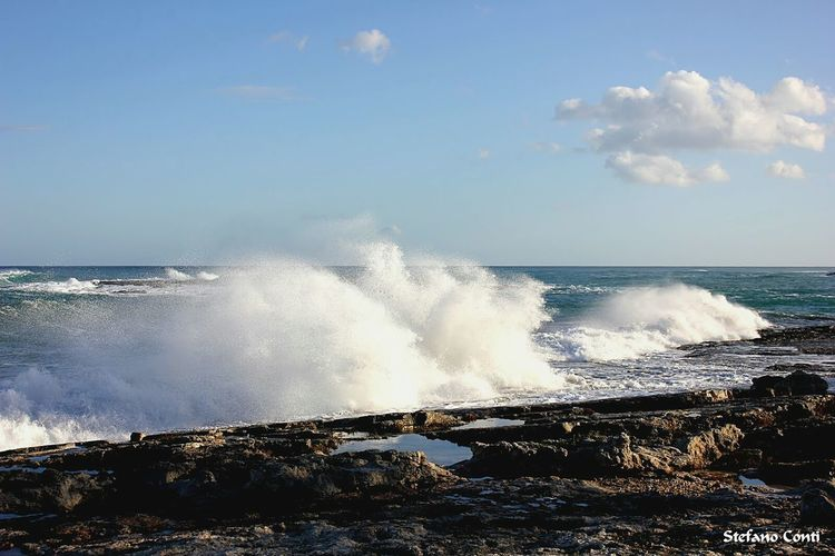 Windy day!!Ognina Sea Sea And Sky Waves Nature Nature Photography Naturelovers Nature_collection Windy Day Windy Italy Sicily Siracusa Sicily Dailyphoto Dailypic Waves, Ocean, Nature Waves Crashing Coast Rocks First Eyeem Photo