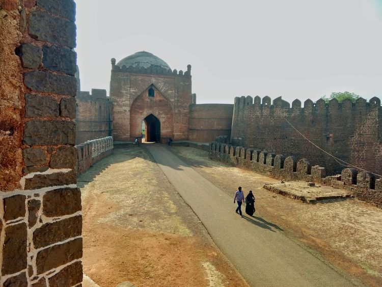 Afternoon Timing Is Everything Indian Culture  Blue Sky Walkwithloved One Fortress Bidar Karnataka Entrance Gate EyeEmNewHere Focus On The Story The Traveler - 2018 EyeEm Awards