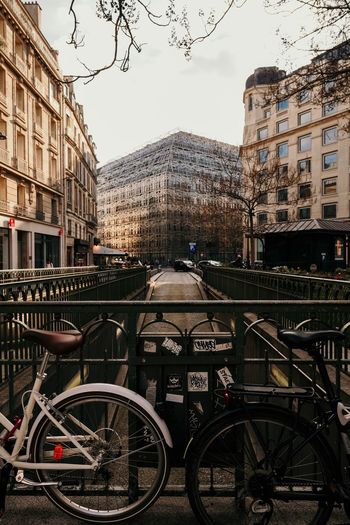 Architecture Building Exterior Built Structure Bicycle Transportation City Land Vehicle Sky Mode Of Transportation Day Street Outdoors Travel No People Travel Destinations