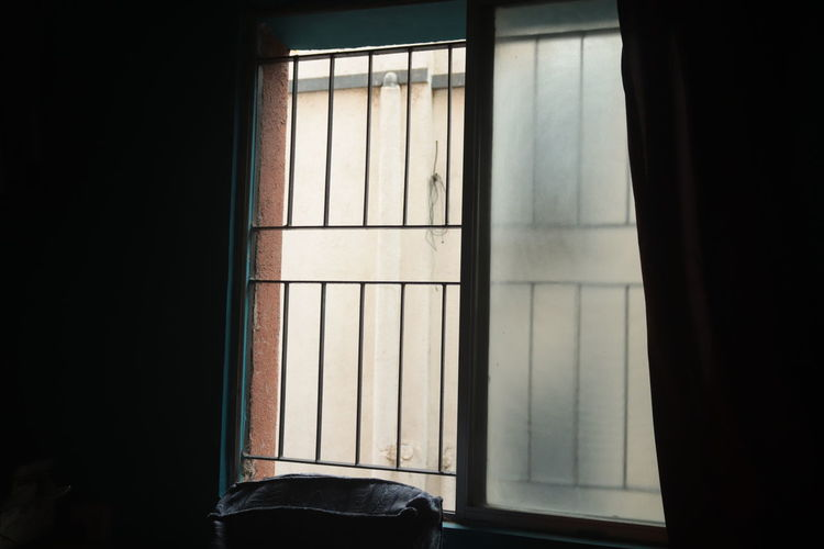 Close-up of window in house