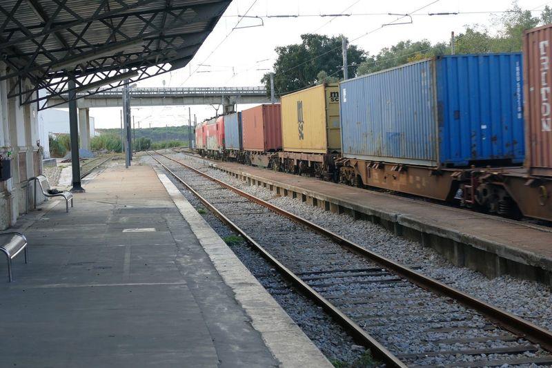 Train Portugal Alcacer Do Sal Rail Transportation Transportation Track Railroad Track Mode Of Transportation Train Train - Vehicle Freight Transportation