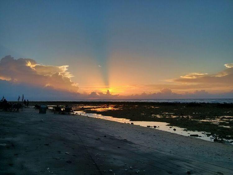 Xiaomi Mi2 Beauty In Nature Sunset Beach Beach Sunset Water Palm Tree Horizon Over Water Nature Outdoors Sand