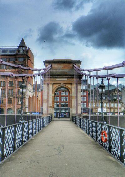 Bridge Suspension Bridge Footbridge River Clyde