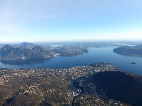 Lago Maggiore Intra Nature Mountains Inflightpictures View From Above Paragliding Italy Lake