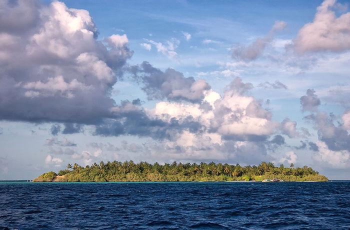 Embudu Village Island, The Maldives ASIA Embudu Embudu Village Indian Ocean Maldives Malediven  Beauty In Nature Cloud - Sky Horizon Idyllic Island Isle Landscape Nature No People Outdoors Scenics - Nature Sea Sky Tranquil Scene Tranquility Tropical Tropics Water Waterfront