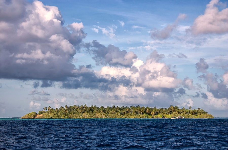 Embudu Village Island, The Maldives ASIA Embudu Embudu Village Indian Ocean Maldives Malediven  Beauty In Nature Cloud - Sky Horizon Idyllic Island Isle Landscape Nature No People Outdoors Scenics - Nature Sea Sky Tranquil Scene Tranquility Tropical Tropics Water Waterfront