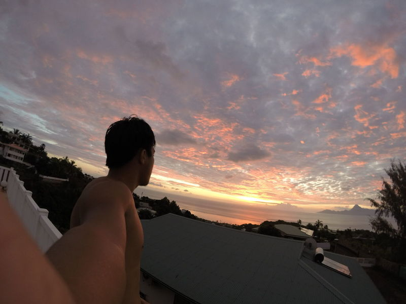 Sunset from tahiti Tahiti Sunset Paradise Nofilter Original Pic SunsetTaapuna