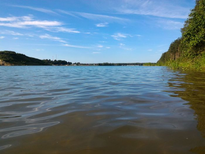 Nature Scenes Nature Beauty Russian Nature Lake View Lake Surface Water_collection Water Reflections Blue Water Blue Sky Sky And Water Focus On Foreground Trees Reflection On Water Trees And Water