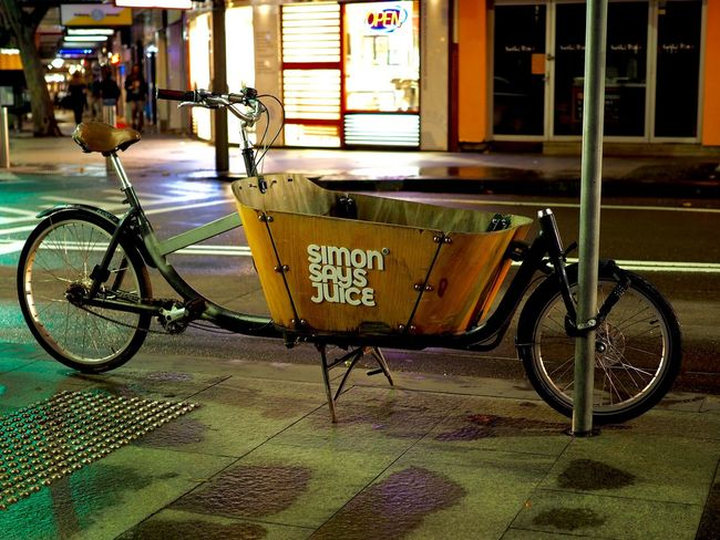 Australia Bicycle City Communication Day Mode Of Transport No People Outdoors Stationary Sydney Text Transportation