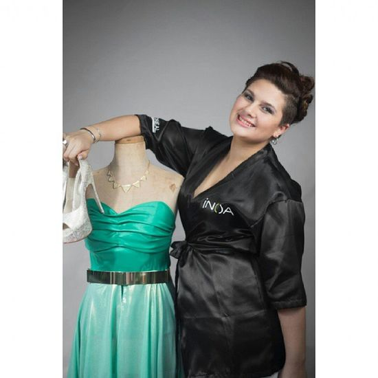 PH: Hugo Oliveira Green Dress Gran Noche Night Party Canon MakeUp InstaSize Smile Loreal INOA