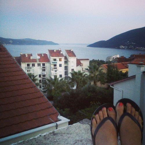 Pogled_sa_krova Roof_top_view Montenegro Herceg_novi my_feet