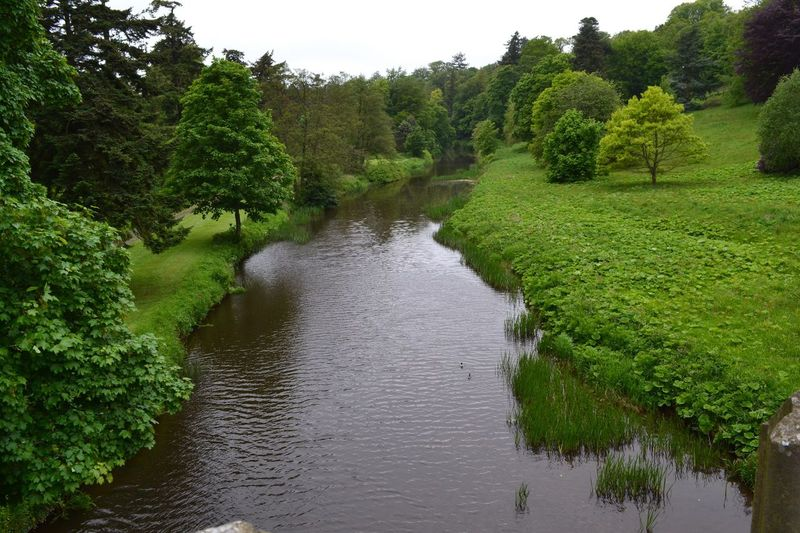 Alnwick Countryside Alnwick Castle Northumberland River Green
