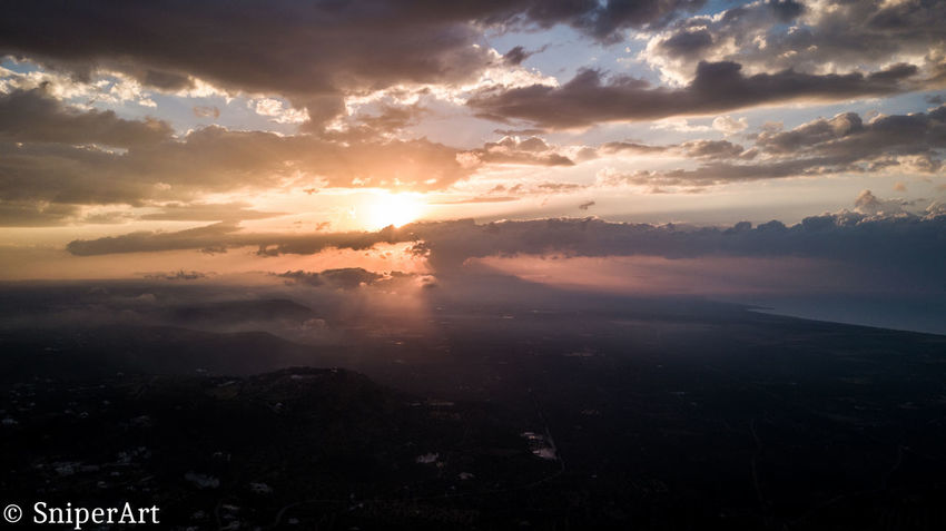 Beauty In Nature Cloud - Sky Drone  Drone Photography Dronephotography Drones Droneshot Idyllic Landscape Nature No People Outdoors Scenery Scenics Sky Sunset Tranquil Scene Tranquility