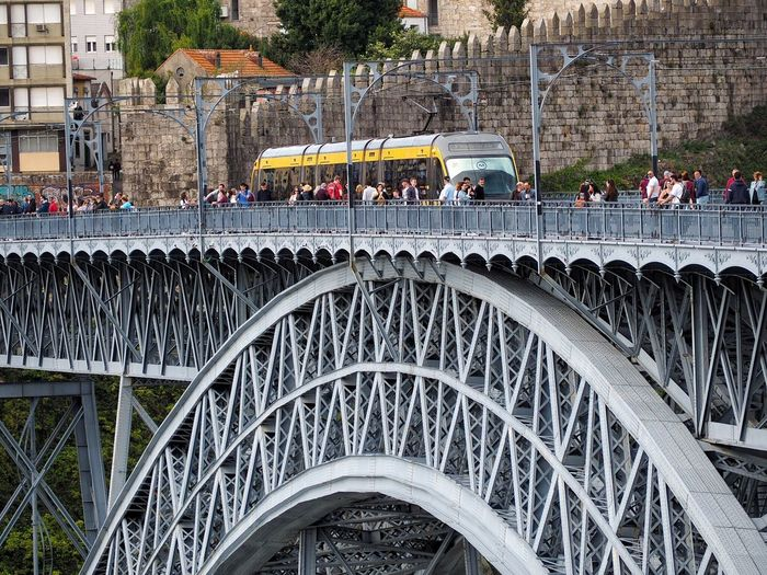 Architecture Built Structure Group Of People Crowd Large Group Of People Building Exterior Real People City Railing Transportation Day Bridge Arch Lifestyles Outdoors