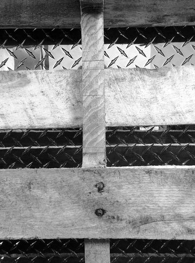 Random at work Diamond Plate Metal Wall Guard Wooden Pallet